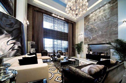 2016豪华前卫现代风格客厅装潢效果图