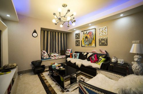 现代风格白色舒适客厅装修效果图