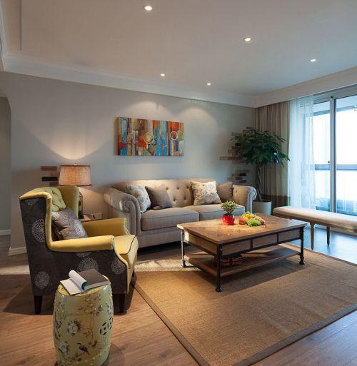 现代风格灰色素雅客厅装修美图