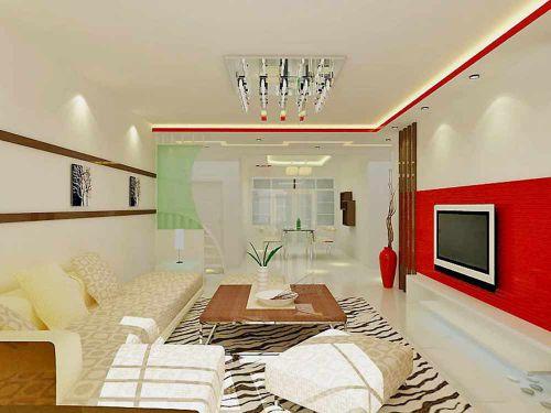 清新清爽时尚现代客厅装潢装饰