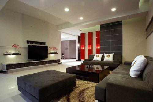 现代时尚简洁客厅设计欣赏
