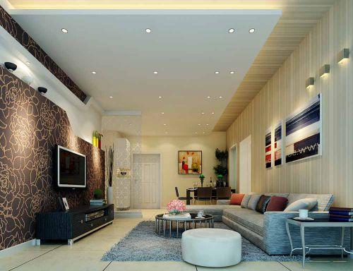 简约现代客厅电视背景墙设计