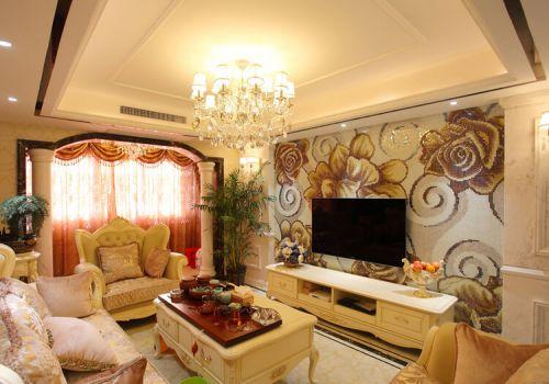 华丽欧式电视背景墙设计