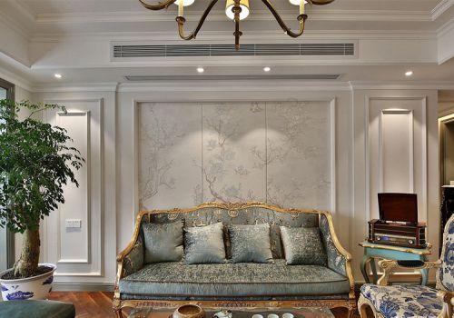 优雅欧式客厅背景墙设计