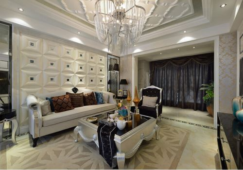 精致欧式沙发背景墙欣赏