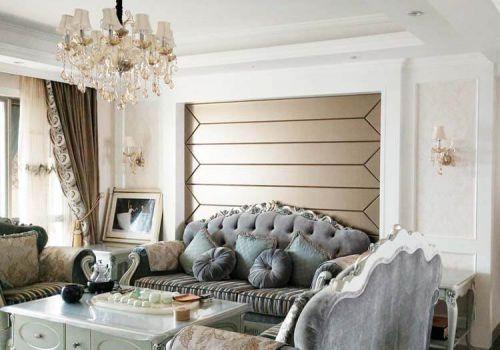 简约欧式沙发背景墙欣赏