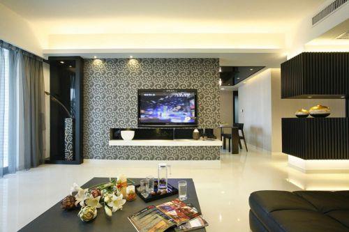 黑色创意现代风格客厅装修美图