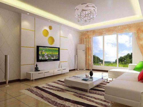 创意可爱现代风格客厅布置装饰