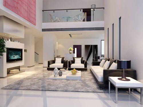 现代质感客厅装修案例