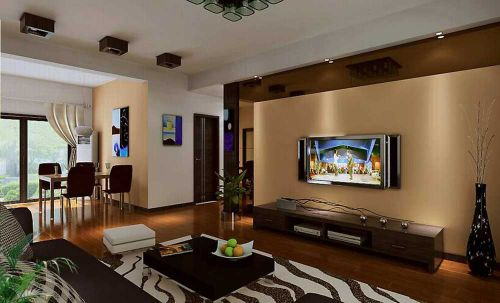 现代雅致自然客厅设计