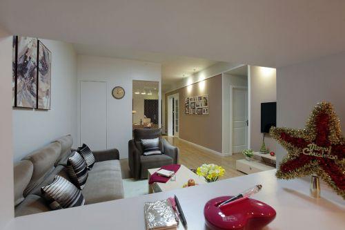 米色现代风格客厅装修图片赏析