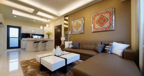 现代温馨客厅装修效果图