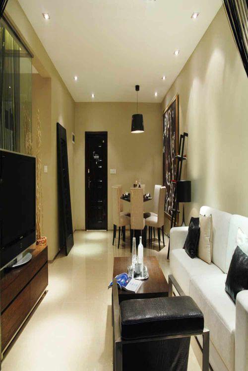 温馨色调现代风格客厅装饰布置
