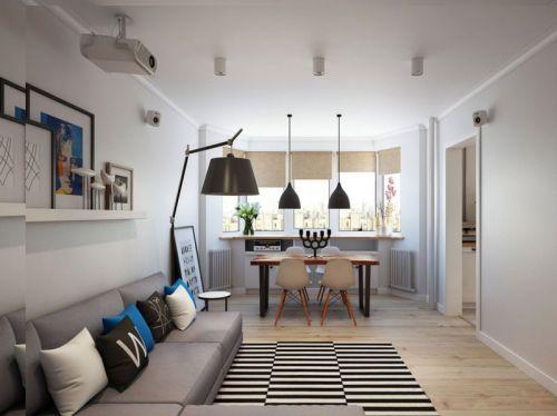 现代风格条纹精致客厅图片