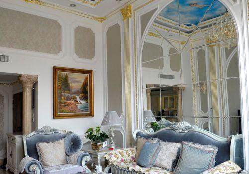 法式沙发背景墙欣赏