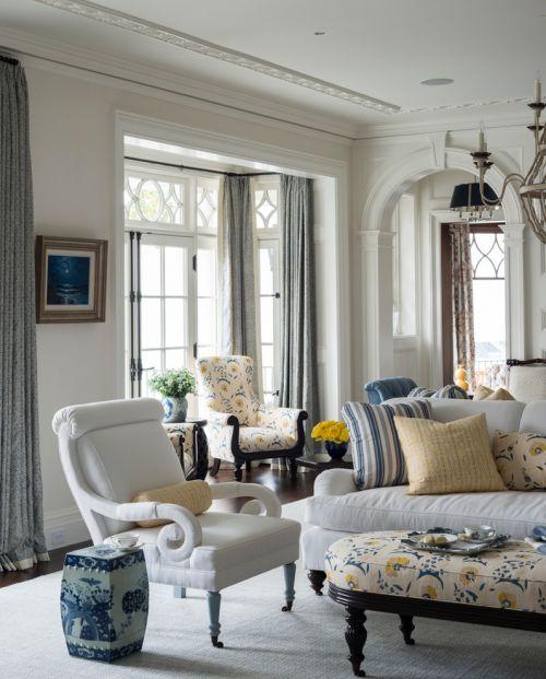优雅欧式田园风格客厅装修效果图片