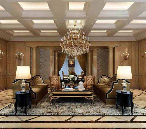 大气欧式别墅客厅装修精品案例