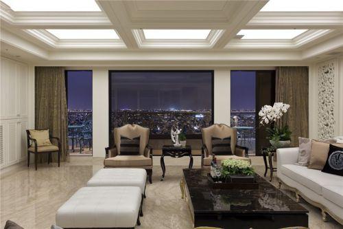 个性时尚白色欧式风格客厅效果图欣赏