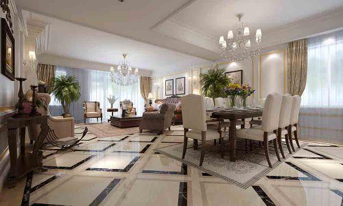 2015米色经典欧式客厅装修设计