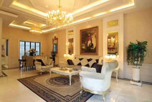 时尚典雅欧式客厅装修美图