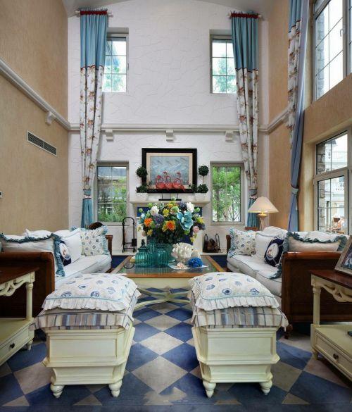 欧式风格优雅米色客厅装修赏析