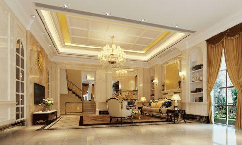 欧式风格米色素雅客厅设计装潢