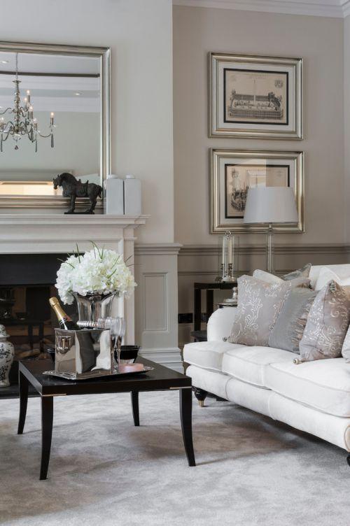 灰色欧式风格客厅2016温馨设计装潢