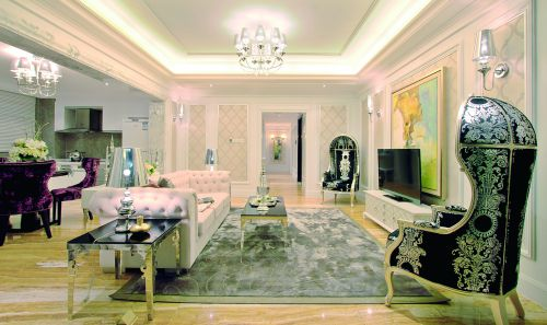 典雅欧式风格客厅设计装潢