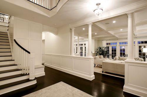 米色欧式奢华楼梯设计装潢