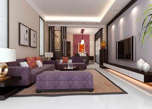 沉稳雅致新中式客厅装潢