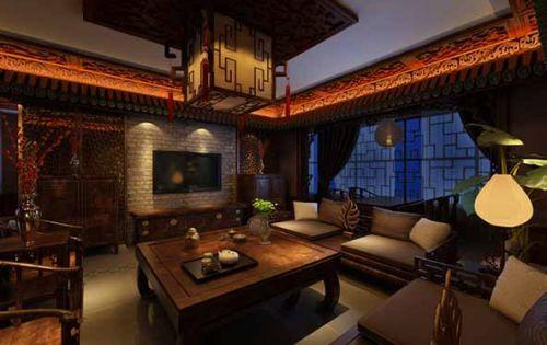中国风低调奢华风格客厅装潢设计