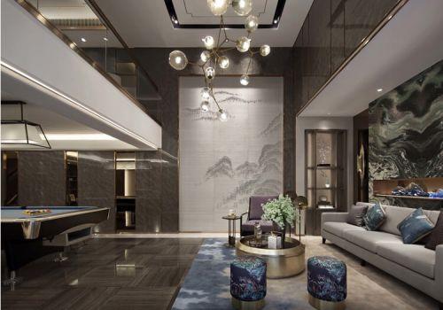 水墨中式客厅背景墙欣赏