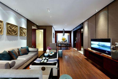 新中式改良风格客厅装潢装修设计