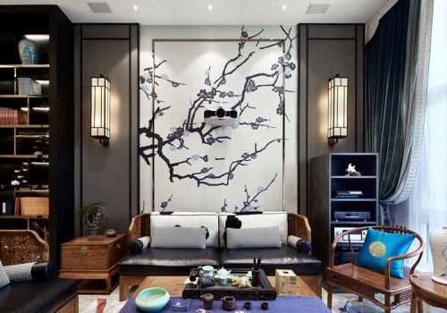 中国画沙发背景墙欣赏