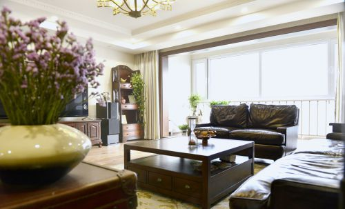 复古中式客厅设计
