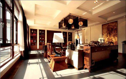 文艺古典雅致新中式风格客厅装修效果图
