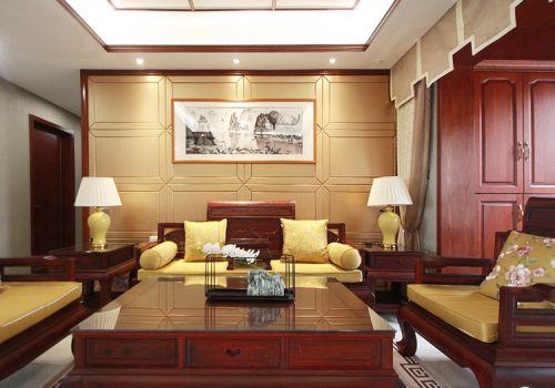 古典中式客厅背景墙设计