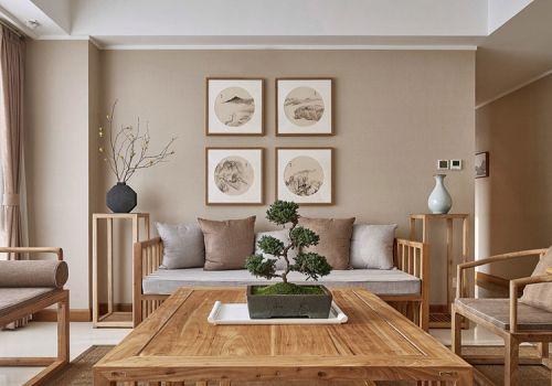清雅中式客厅照片墙设计