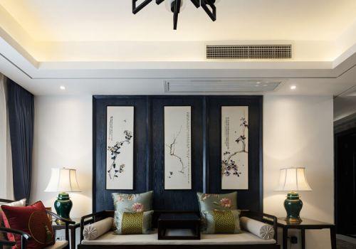 优雅中式客厅背景墙欣赏
