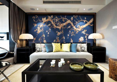 优雅中式沙发背景墙欣赏