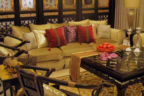 尊贵气质中式客厅装修欣赏