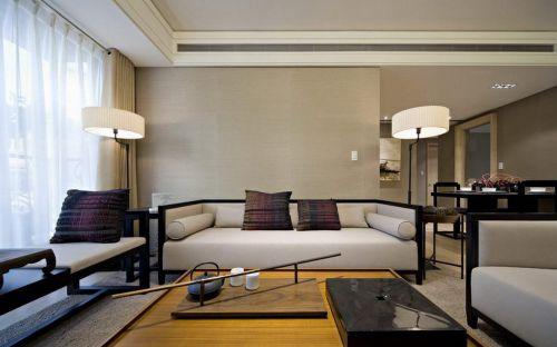 现代气息新中式客厅装潢