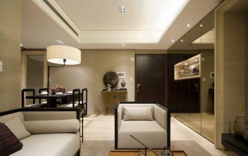 中式简洁大方客厅装饰设计