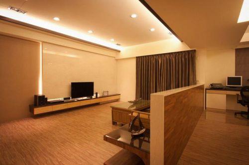 新中式原木简约客厅装修图