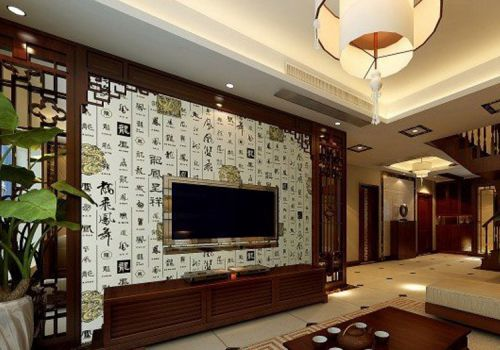 中国风客厅背景墙欣赏