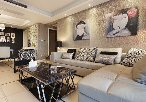 时尚现代客厅沙发背景墙欣赏