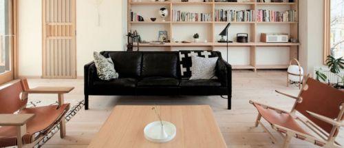 清新原木色簡約風客廳裝飾設計圖片