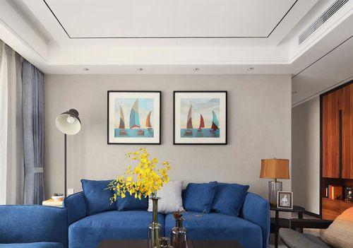 清新简约客厅照片墙设计