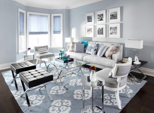 簡約風格藍色客廳欣賞