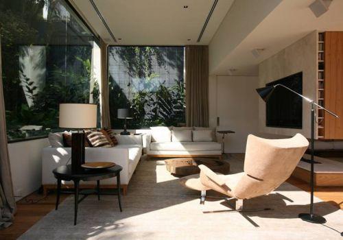 自然簡約風格客廳裝修設計